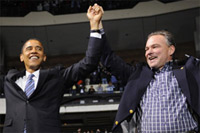Barack Obama and Tim Kaine.